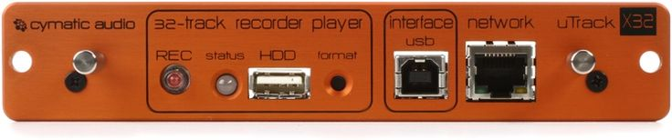 Multitrack Recorder/Player Expansion Card with REC Button, USB HDD Port, USB Interface Port, and Network Port