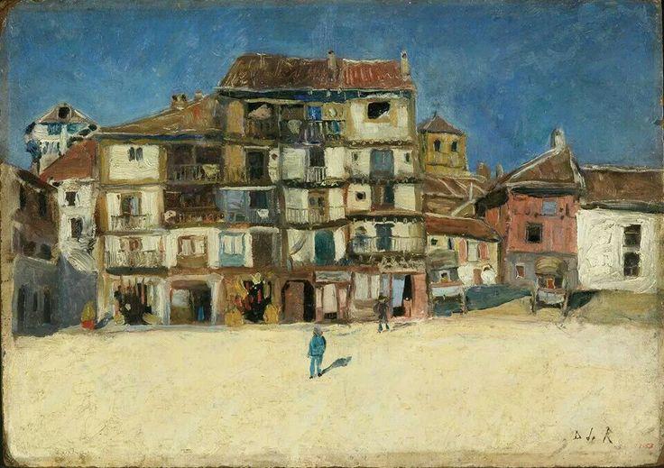 Dario de Regoyos y Valdes - Plaza en Segovia, 1882