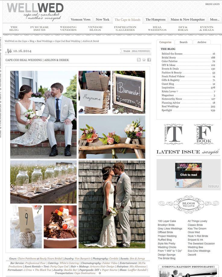 Featured on @WellWed  © 2014  Aislinn and Derek Cape Cod Wedding Photos