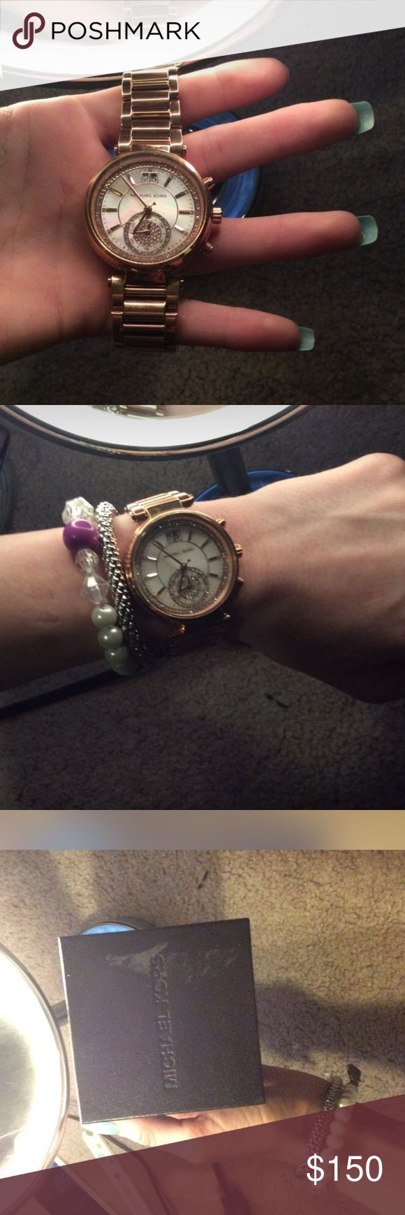 Watch marks on wrist - Rose Gold Authentic Michael Kors Watch Asking 150 Brand New With Box Never Worn No