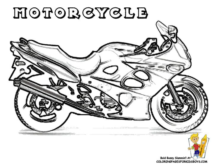 Cool Motorcycle Colouring Pages