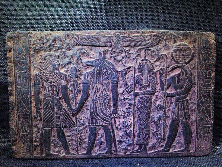 ANCIENT EGYPT EGYPTIAN ANTIQUE Tutankhamun Seshat Stela Relief 1212-1278 BC