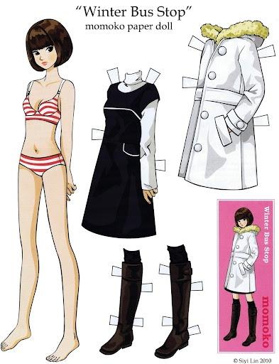 Momoko Paper Doll - so cute