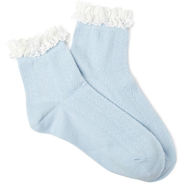 FOREVER 21 Delicate Ruffled Crew Socks (5.16 AUD) ❤ liked on Polyvore featuring intimates, hosiery, socks, accessories, socks and tights, shoes, forever 21, frilly socks, forever 21 socks and crew length socks