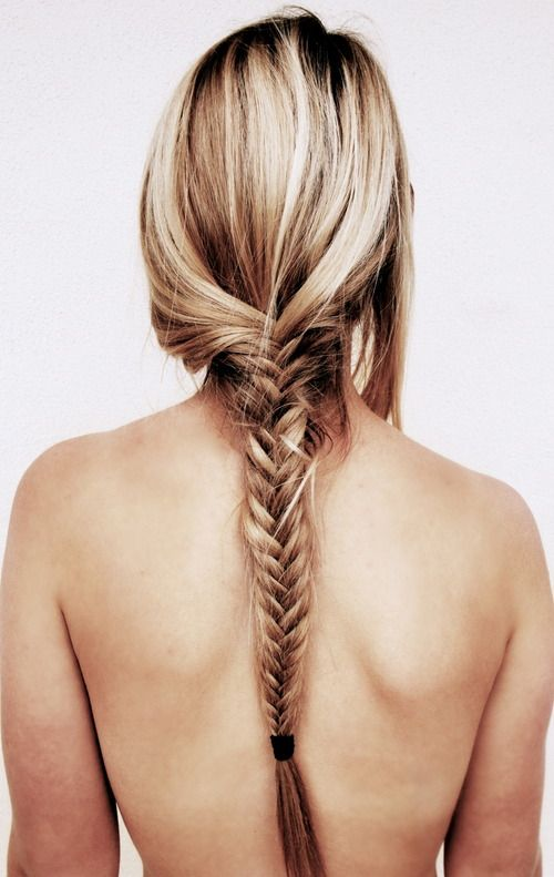 fishtail: Fish Tail, Hairstyles, Hair Styles, Makeup, Long Hair, Fishtailbraid, Fishtail Braids, Beauty, Hair Color