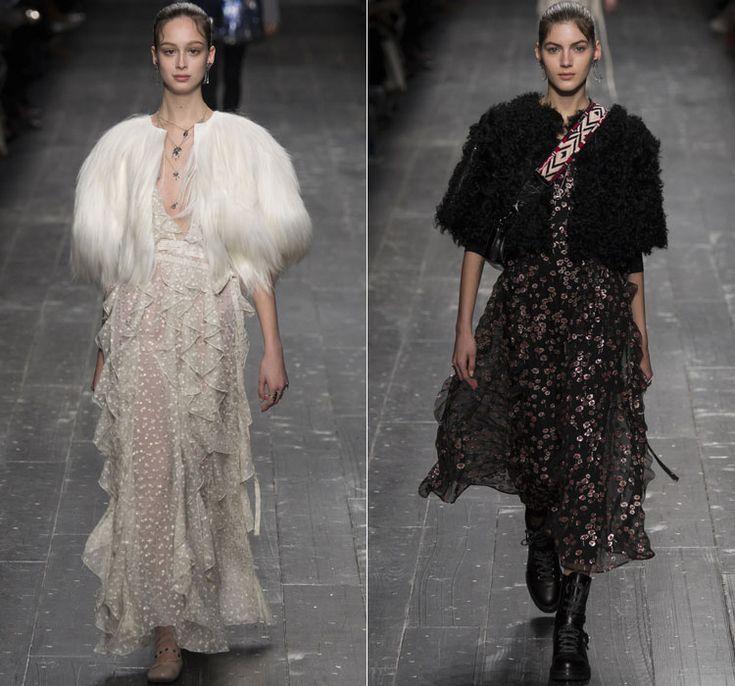 Шубы: зимние тенденции 2016 года от Valentino 2