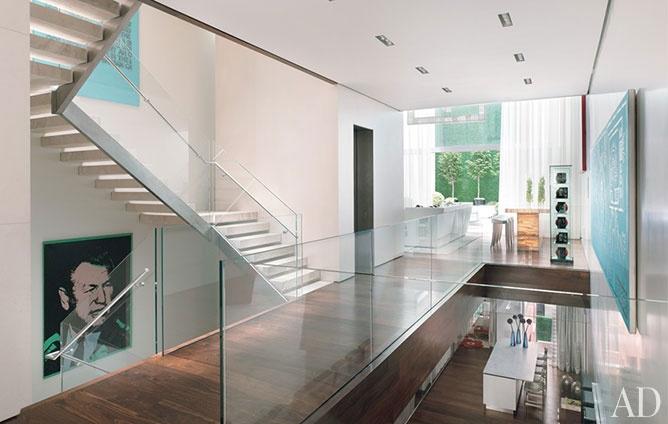 Donny deutsch s modern new york city townhouse for Interior design deutsch