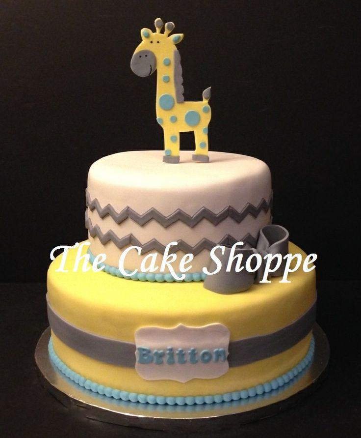 baby shower giraffe and chevron print cake cakes by the cake shoppe