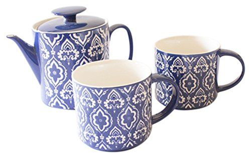 Moraccan Tile Teapot Bundle with Teapot and Stackable Mugs by Now Designs Now Designs http://smile.amazon.com/dp/B00UDJ2X1M/ref=cm_sw_r_pi_dp_ahrlvb0P4H96D