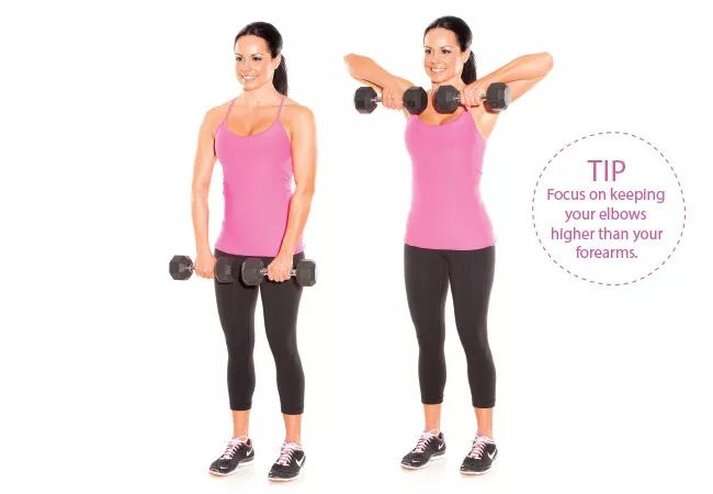 Dumbbell Upright Rows - WHF