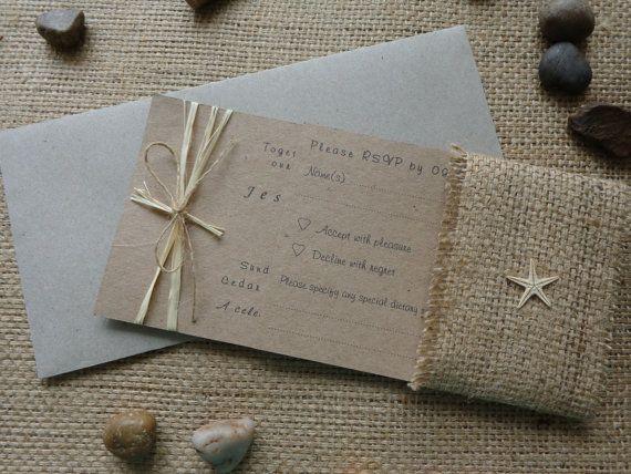 Rustic Beach Wedding Invitation Set Invitation by CreateTheDate, $4.80