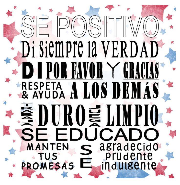 claves para ser feliz : se positivo, di siempre la verdad....manten tus promesas