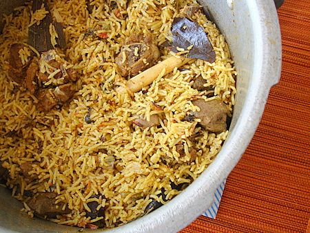 Pressure Cooker Mutton Biryani - Indian Food Recipes | Andhra Recipes | Indian Dishes Recipes | Sailu's Kitchen