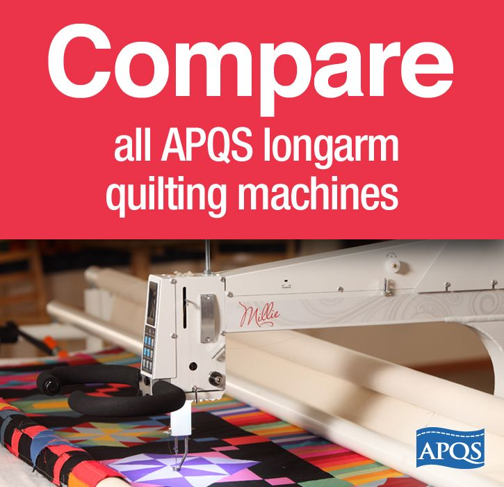 Compare all APQS longarm quilting machines using this handy chart ... : apqs quilting machine - Adamdwight.com