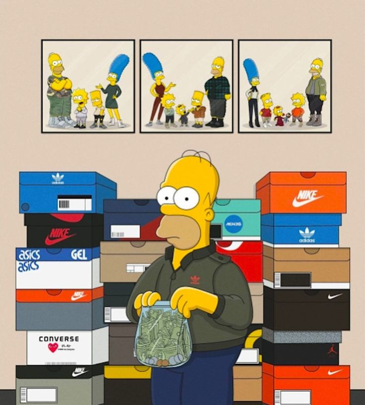 The_Simpsons_Illustrated_as_Sneakerheads_by_Polish_Artist_Olga_Wojcik_2016_13-768x852