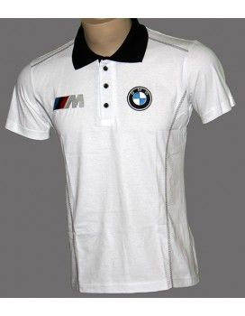 BMW MPower T-Shirt With Collar with embroidered logos from http://autofanstore.com