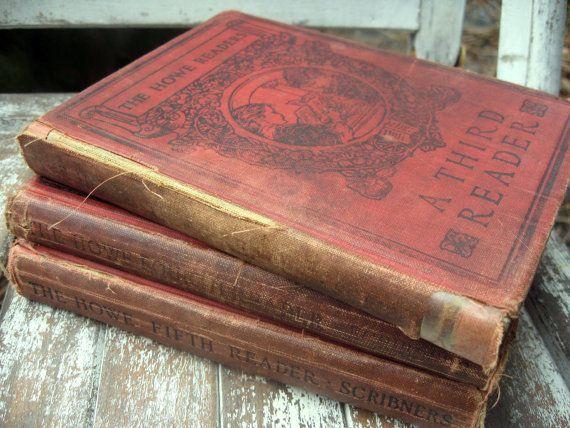 Vintage Howe Readers for children set of 3 by LittleBeachDesigns, $36.00