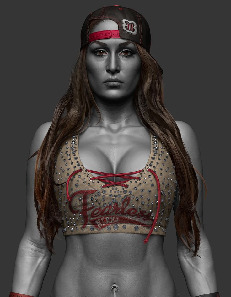Here is another sculpt I did for WWE, one of my favorites, Nikki Bella :) https://www.instagram.com/hossein.diba https://www.facebook.com/TheArtofHosseinDiba