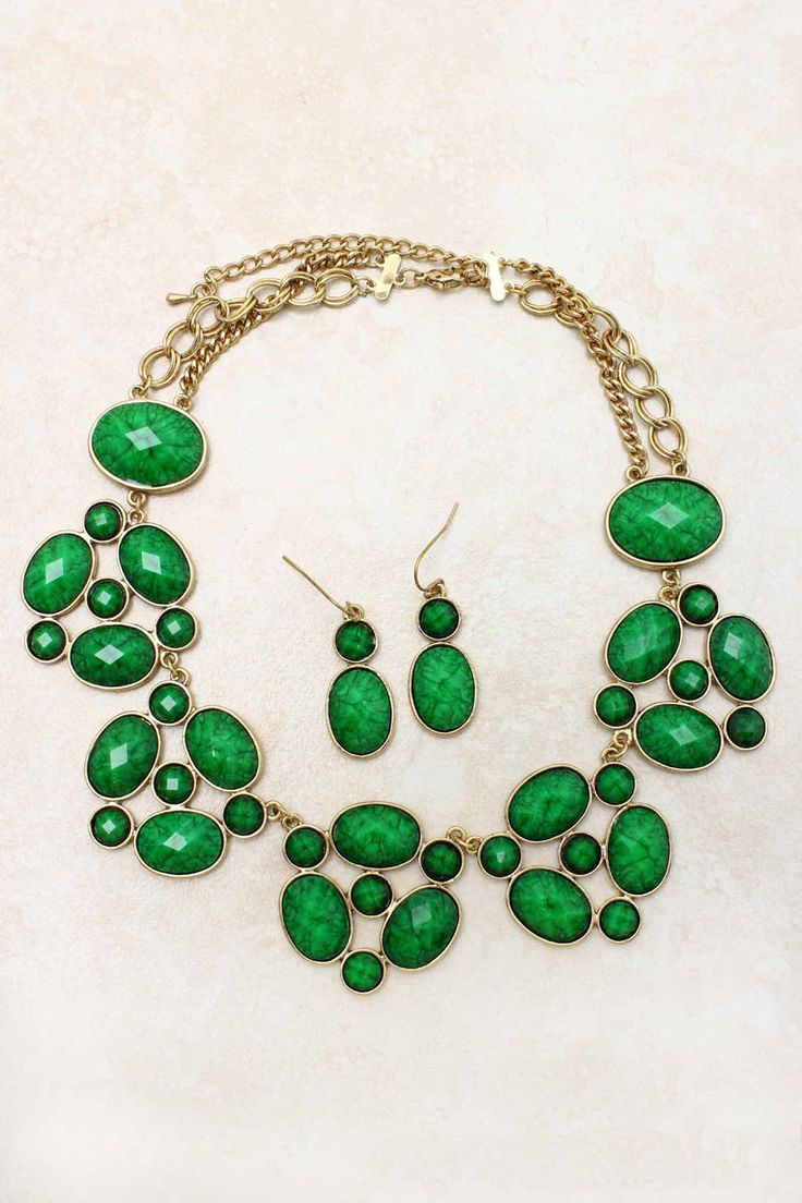 neck wear   kelly green statement necklace  {emma} looking for one for prom