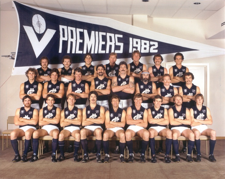 Celebrating the Carlton Football Club's 16 Premierships. 1982 Grand Final: Carlton 14.19.103 def Richmond 12.13.85.