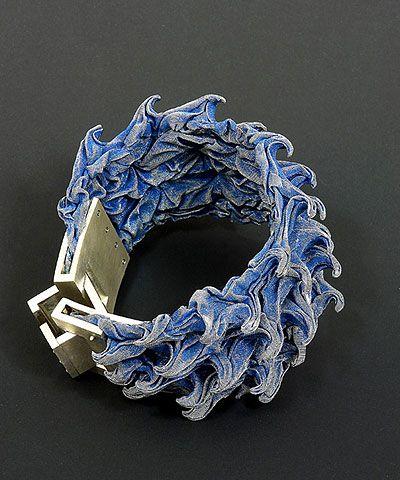 Pawel Kaczynski  Bracelet: Water 2004  Silver, steel