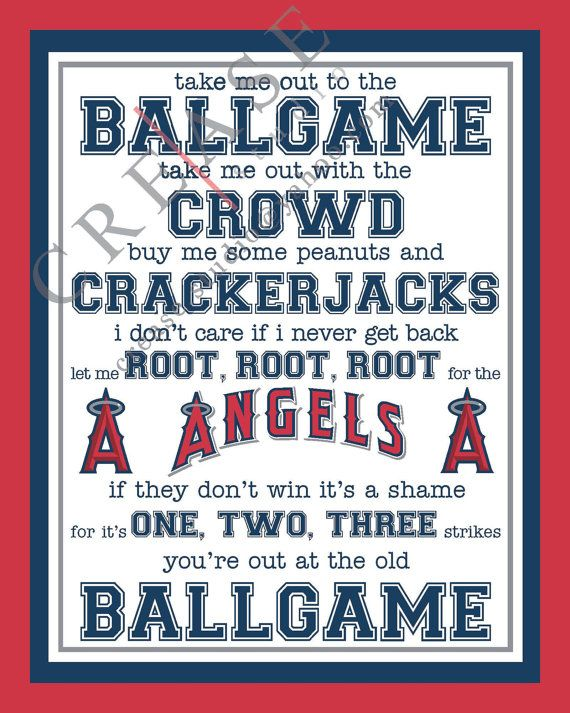 Los Angeles Angels of Anaheim 'take me out to the by CreaseStudio, $8.00