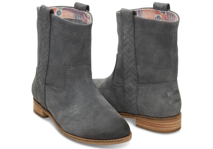 TOMS laurel suede boots... I love Toms so much and these are adorable!