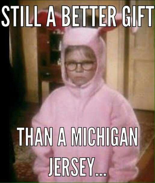 Still a better gift than a _ichigan jersey!