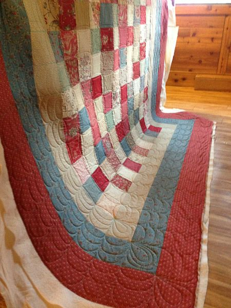first full quilt on grace frame charm square quilt 84 x 92 french