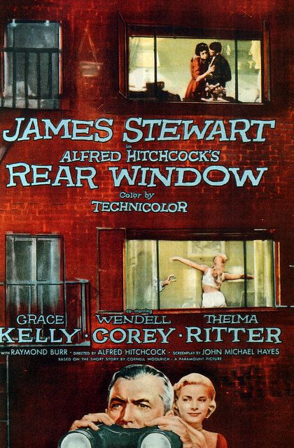 Vintage Movie Poster Fridge Magnet Hitchcock's Rear Window Grace Kelly James Stewart on Etsy, $3.00