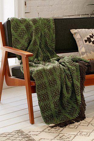 Tech Geo Woven Throw Blanket