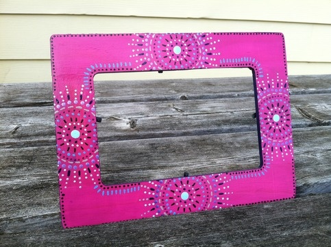 $11.50, hand painted picture frame