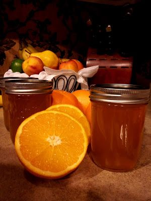 Homemade orange jelly - This is GREAT!! I made a batch with home grown California oranges and we love it!! Will make a double batch for next year and give away at Christmas yum!!