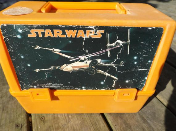 Vintage Star Wars Lunch Box Droid Return of the Jedi Empire