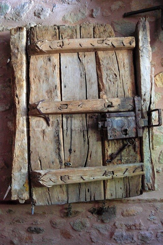 Stock Bild von 'Alte Tür -Kloster, Meteora, Thessalien, Griechenland'