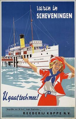 1947 - Scheveningen. #dutch #ad