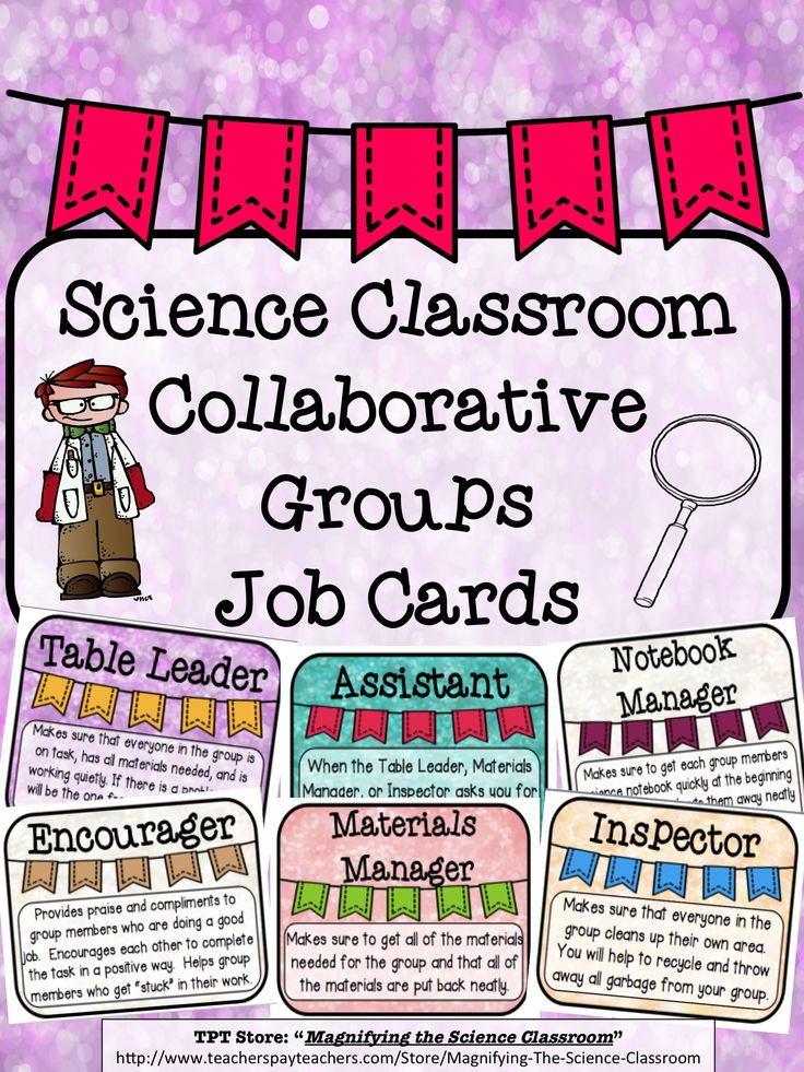 Collaborative Classroom Jobs ~ Best tpt magnifying the science classroom products
