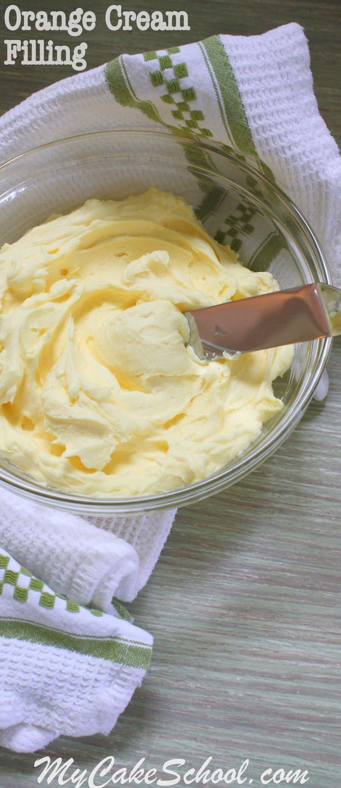 Delicious Orange Cream Filling! Recipe by MyCakeSchool.com. Online Cake Tutorials & Recipes!