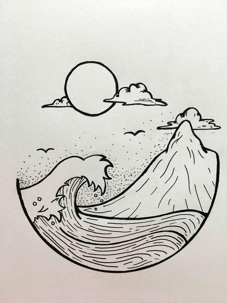 desenhos easy drawings drawing simple cool sketches dibujos tattoo recreate doodle wave pencil doodles whimsical pandit originales draw plantillas sketch