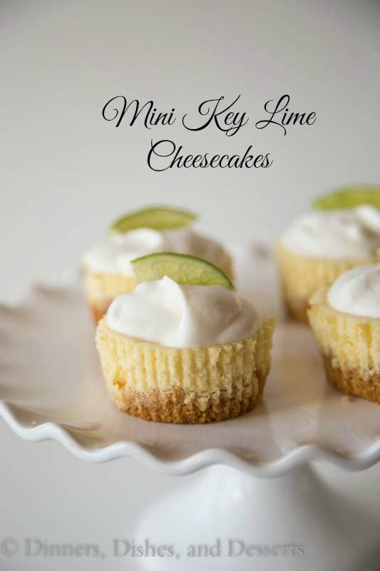 Mini Key Lime Cheesecakes | Dinners, Dishes and Desserts