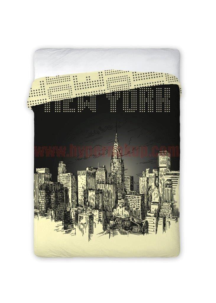Bavlnený prehoz na posteľ New York City  160x200