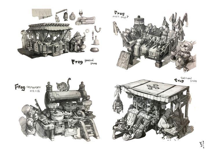 Design study_2016, yeonji Rhee on ArtStation at https://www.artstation.com/artwork/gxq3G