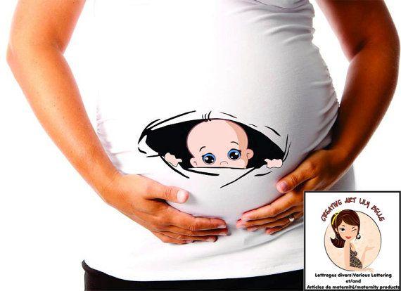 cm166 chandail de maternité coucou peek a boo par CreativeLilyBelle