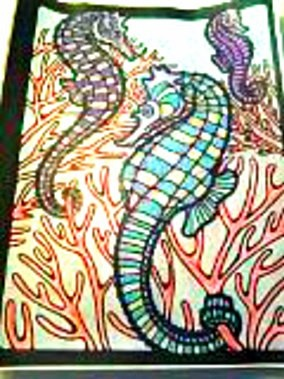 Carol Lawhorne (18+ division) from  Sealife Stained Glass Coloring Book: http://store.doverpublications.com/0486264920.html