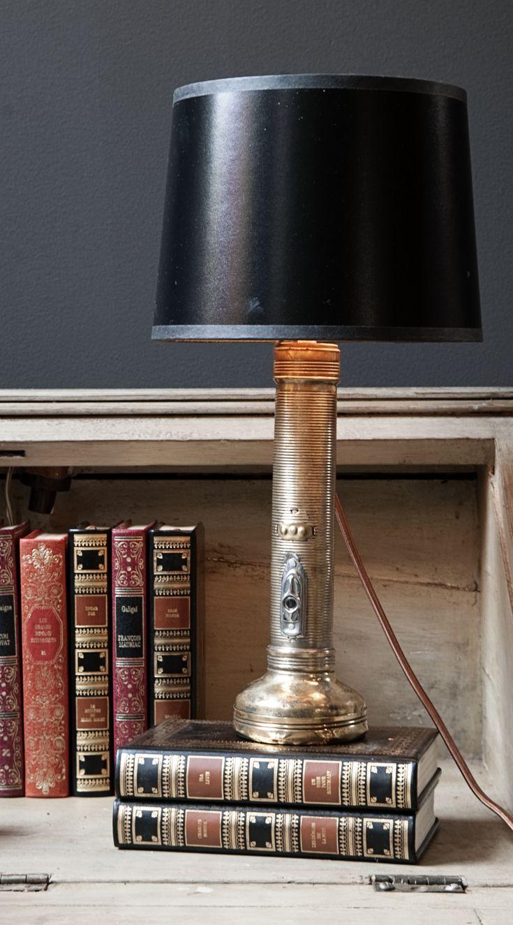 Jayson Home vintage flashlight lamp