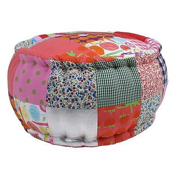 Cute Child's Patchwork Pouffe...perfect for your kids bedroom! £40
