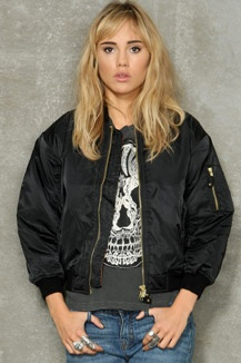 Vintage Surplus Black MA1 Bomber Jacket