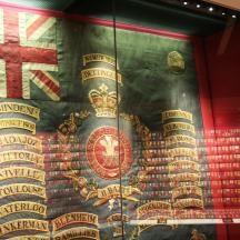 Regimental Colour in the Museum.