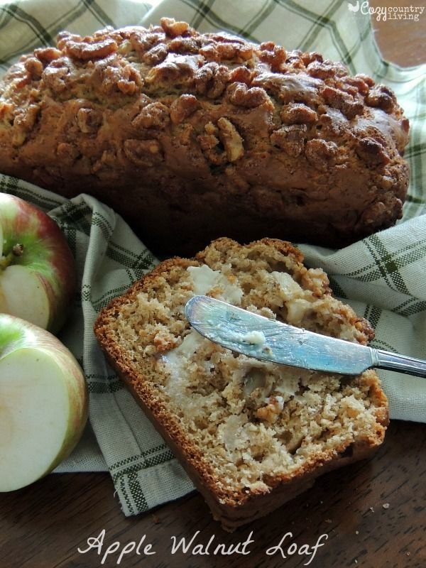 Share a little of Fall's harvest with your family and try this yummy Apple Walnut Loaf soon!