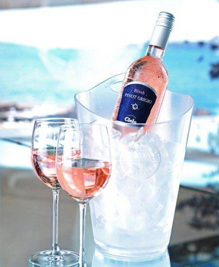 This is my favorite summer wine.( Pinot Grigio Blush Cielo )